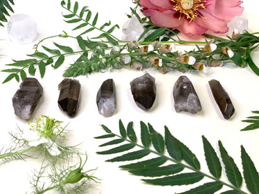 Natural Smoky Lemurian Quartz Wands