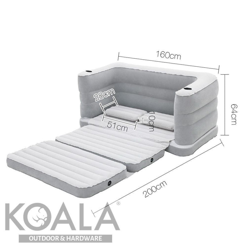Cool Bestway 2 In 1 Inflatable Sofa Bed Grey Andrewgaddart Wooden Chair Designs For Living Room Andrewgaddartcom