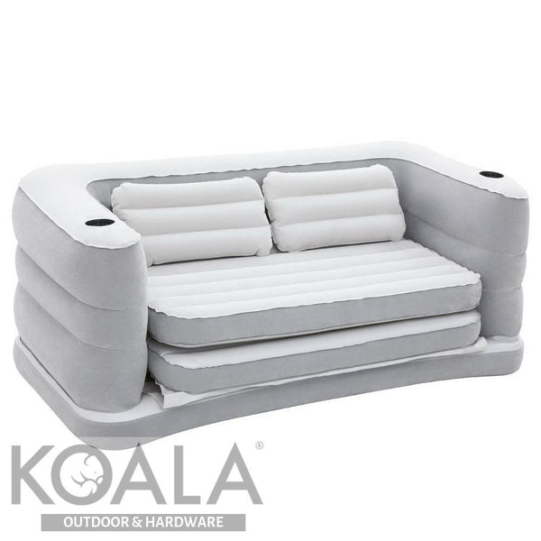Astounding Bestway 2 In 1 Inflatable Sofa Bed Grey Andrewgaddart Wooden Chair Designs For Living Room Andrewgaddartcom