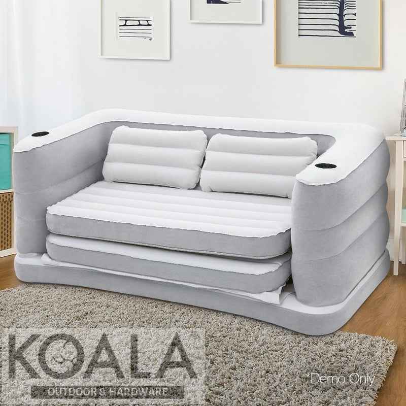 Brilliant Bestway 2 In 1 Inflatable Sofa Bed Grey Andrewgaddart Wooden Chair Designs For Living Room Andrewgaddartcom