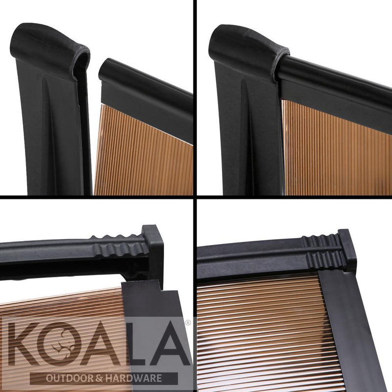 Instahut Diy Window Door Awning Brown 1 X 1m