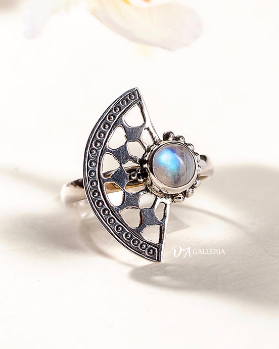 Rainbow Moonstone Ring (JR00013)