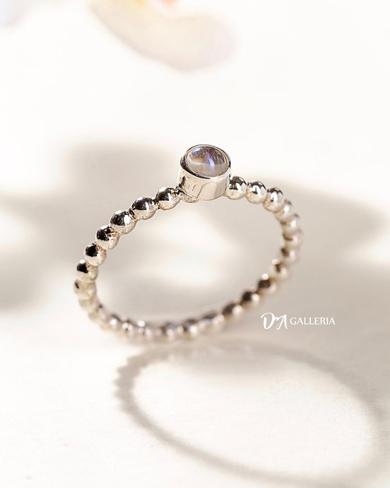 Rainbow Moonstone Ring (JR00027)
