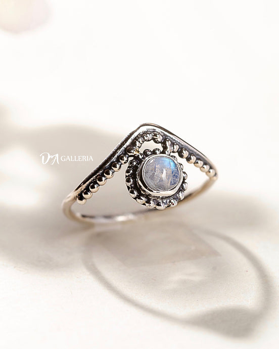 Rainbow Moonstone Ring (JR00009)