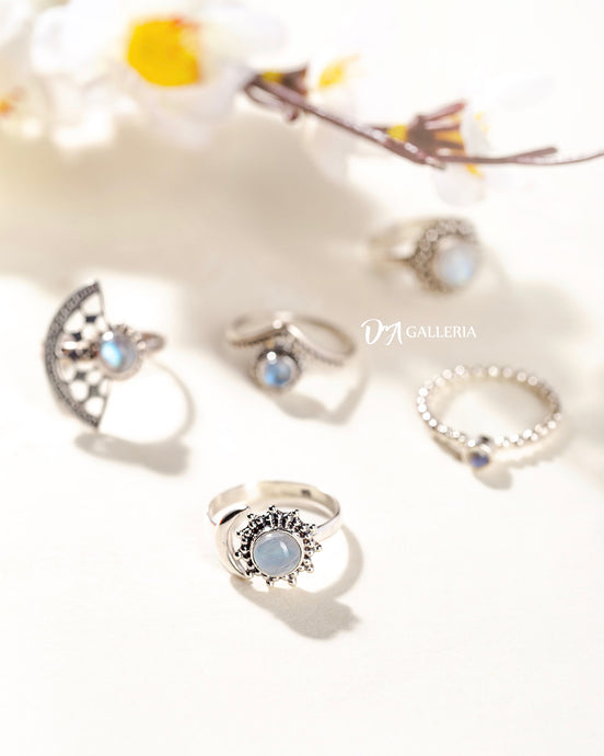 Rainbow Moonstone Ring (JR00015)