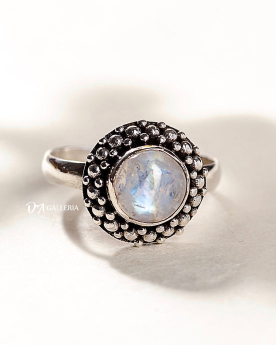 Rainbow Moonstone Ring (JR00001)