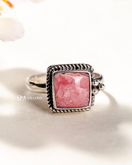 Rhodochrosite Ring (JR00002)
