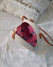 Load image into Gallery viewer, White Bowl Handwoven Rattan Bag Bali (JEPARA BAG)