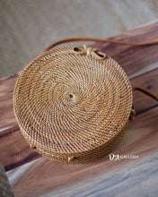 Load image into Gallery viewer, Natural Handwoven Round Rattan Bag Bali (JAKARTA BAG)