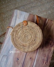 Load image into Gallery viewer, Natural Flower Handwoven Round Rattan Bag Bali (BATAM BAG)