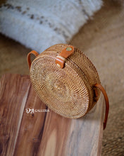 Load image into Gallery viewer, Natural Handwoven Round Rattan Bag Bali (HR00001)