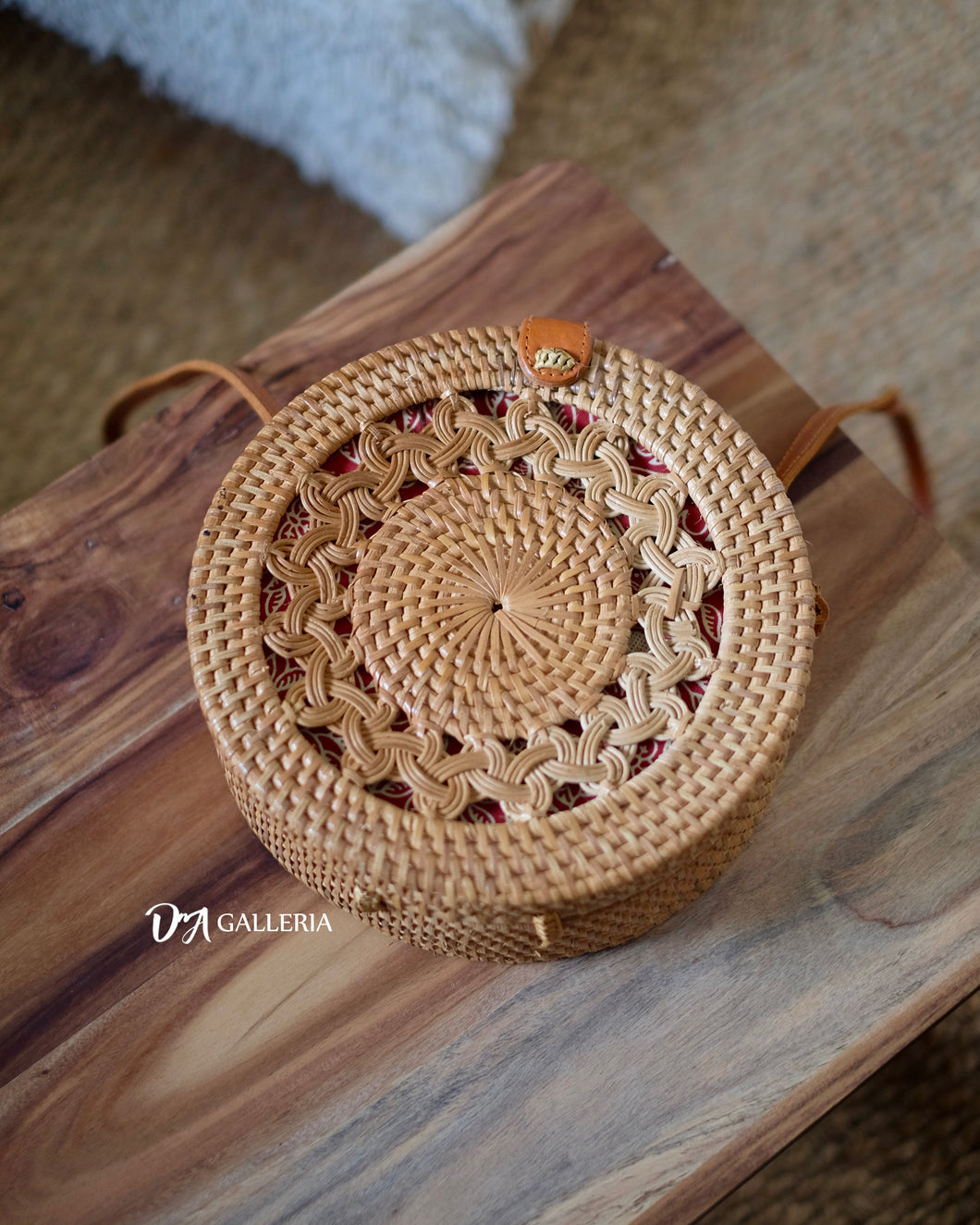 Braid Handwoven Round Rattan Bag Bali (HR00013)