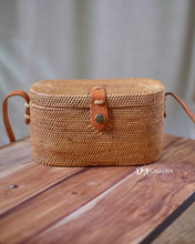 Load image into Gallery viewer, Cylinder Handwoven Rattan Bag Bali (HR00032)