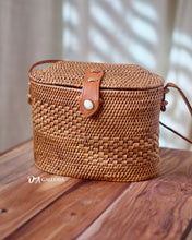 Load image into Gallery viewer, Trapezoid Handwoven Rattan Bag Bali (HR00030)