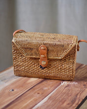Load image into Gallery viewer, Rectangle Handwoven Rattan Bag Bali (JAYAPURA BAG)