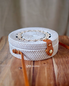 Rattan Bag - Single White Braid (HR00033)