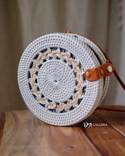 Load image into Gallery viewer, Rattan Bag - Single White Braid (HR00033)