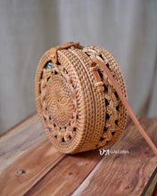 Load image into Gallery viewer, Double Braid Handwoven Round Rattan Bag Bali (TERNATE BAG)