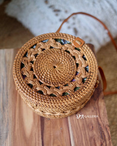 Double Braid Handwoven Round Rattan Bag Bali (TERNATE BAG)