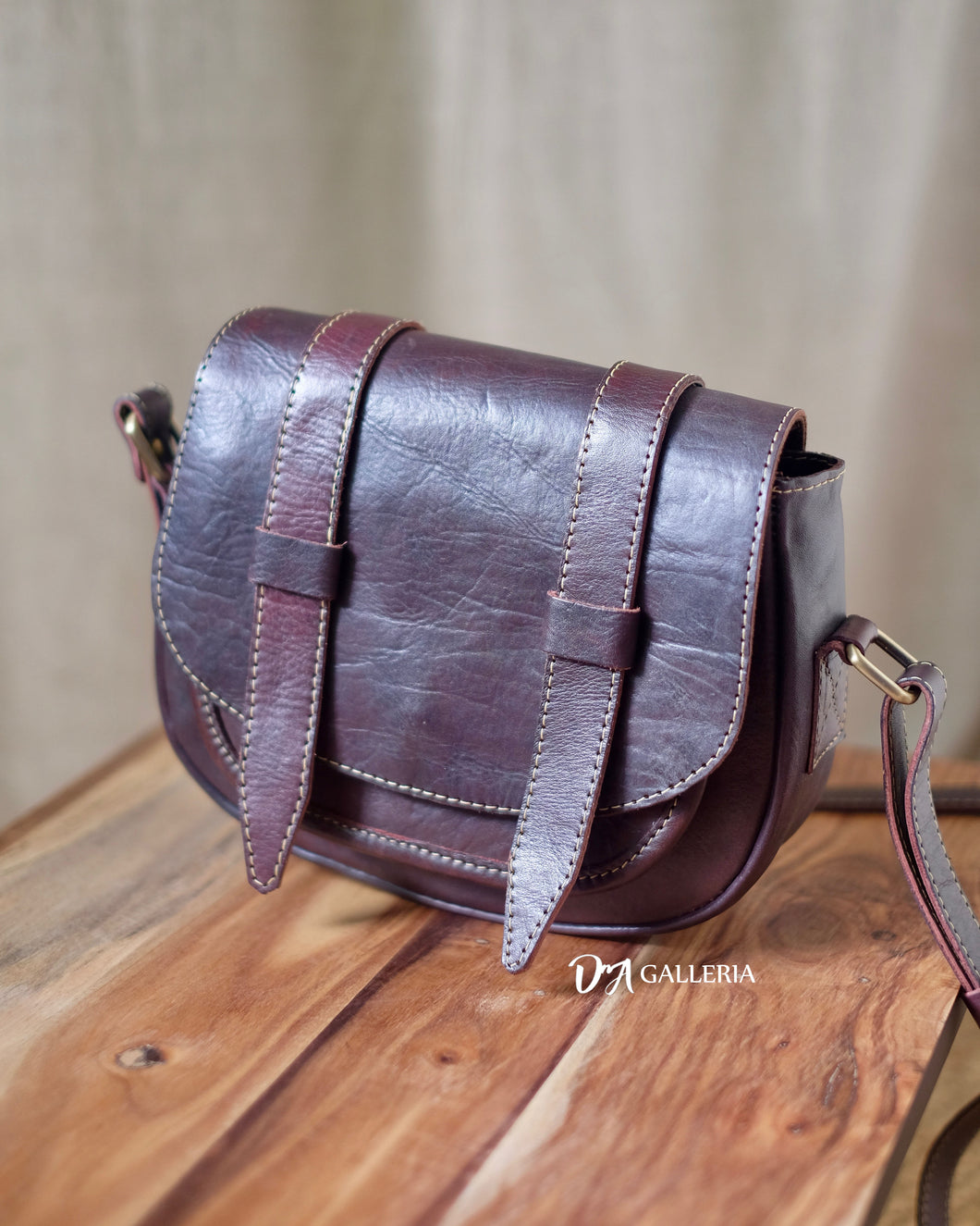 Authentic Leather Crossbody Bag (GUNUNGSITOLI BAG)