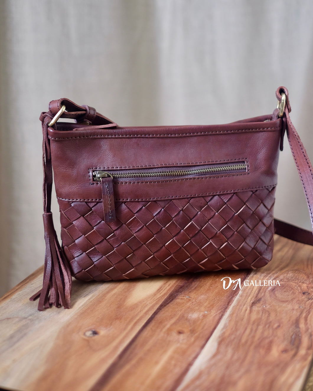 Authentic Leather Crossbody Bag (HL00016)