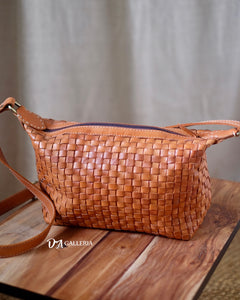 Authentic Leather Crossbody Bag (HL00011)