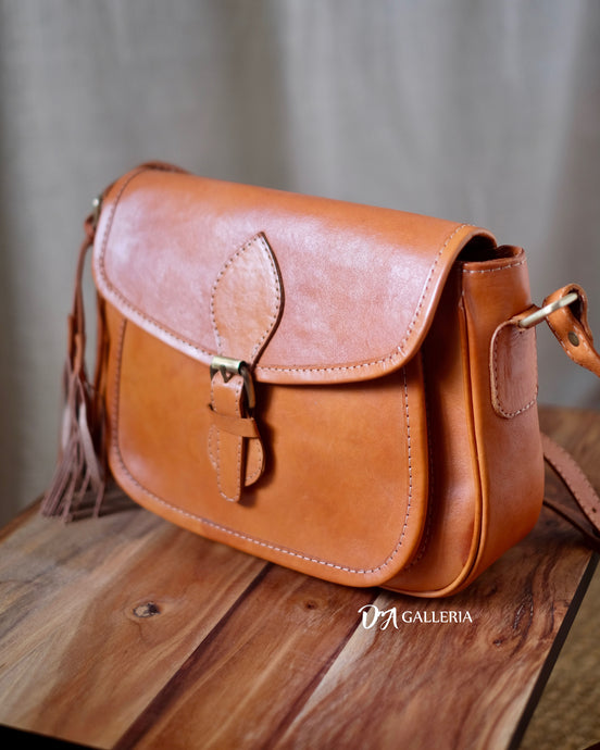 Authentic Leather Crossbody Bag (HL00009)