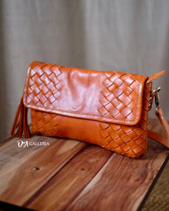 Authentic Leather Crossbody Bag (KETAPANG BAG)