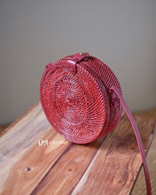 Load image into Gallery viewer, Plain Maroon Rattan Bag Bali (PRABUMULIH BAG)
