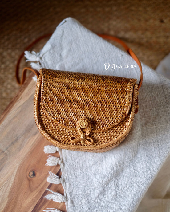 Rattan Satchel Bag Bali (HR00037)