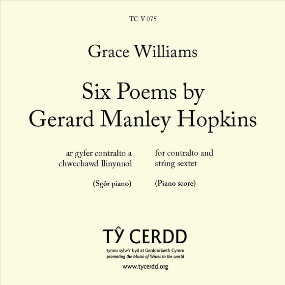 Grace Williams - Six Poems by Gerard Manley Hopkins (CONTRALTO)