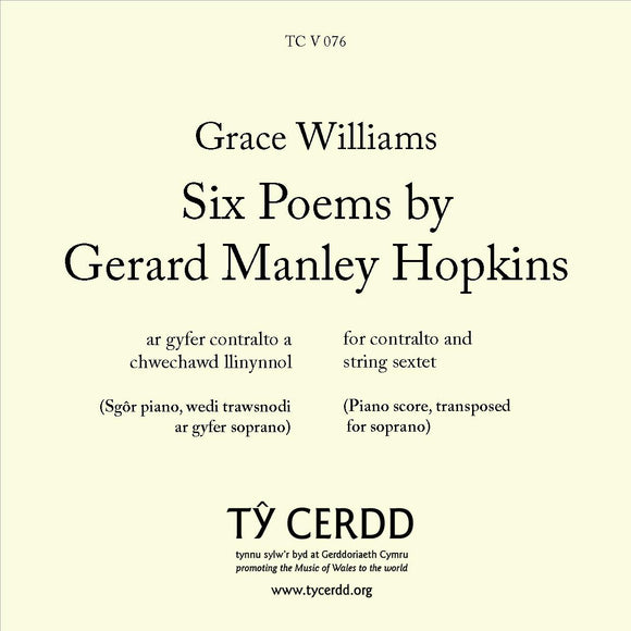 Grace Williams - Six Poems by Gerard Manley Hopkins (SOPRANO)