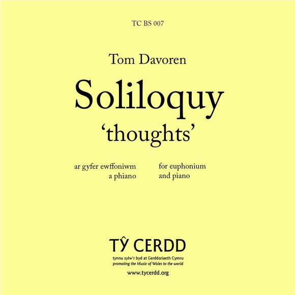 Tom Davoren - Soliloquy, 'thoughts' - Euphonium