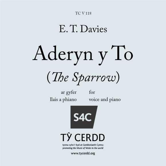 E T Davies - Aderyn y To (The Sparrow)