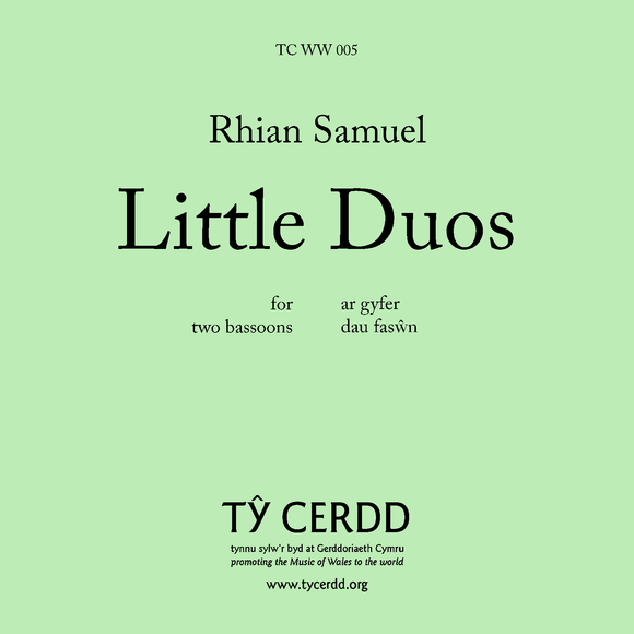 Rhian Samuel - Little Duos (for two bassoons)