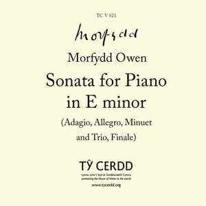 Morfydd Owen - Sonata for Piano in E minor