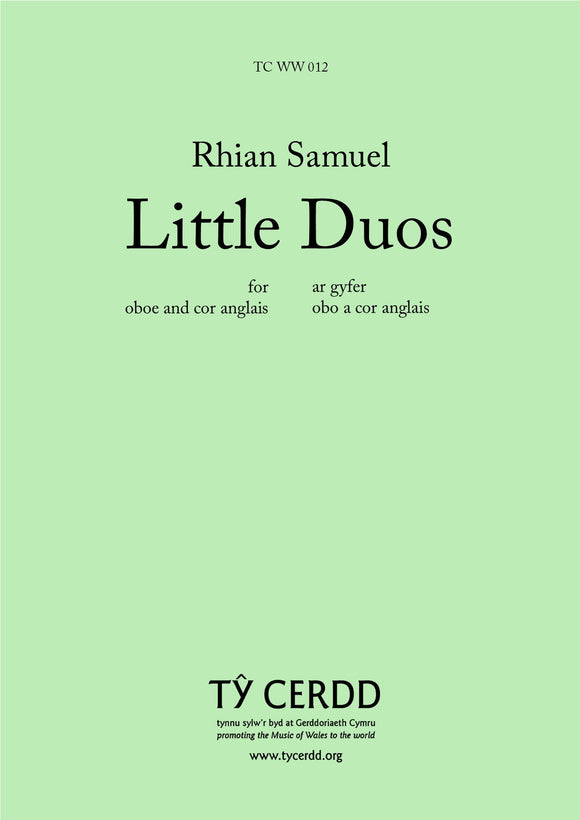 Rhian Samuel - Little Duos (for Oboe and Cor Anglais)