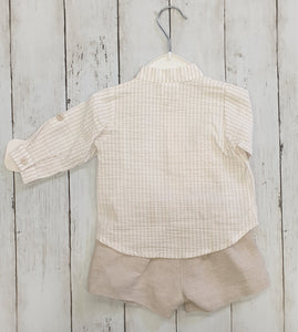 Spanish Linen Shorts And Shirt Set