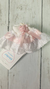 Kinder Collection Rose bud Ribbon And Lace Socks