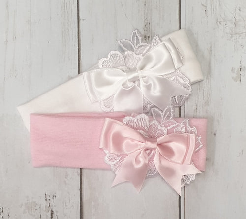Kinder Lace Bow Soft Stretch Headband