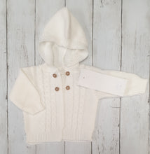 Load image into Gallery viewer, Two Piece White Knitted Jacket And Dungaree Set