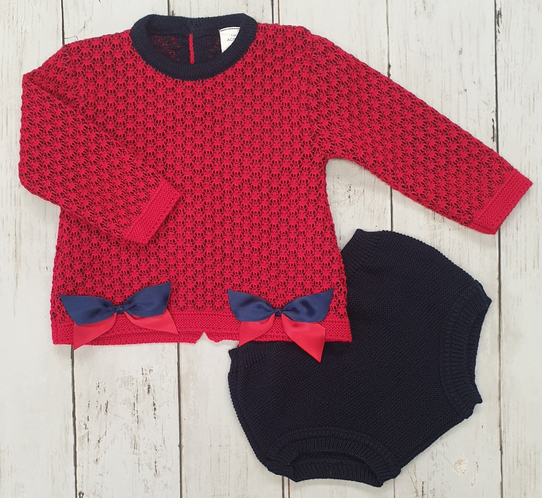 Two Piece Knitted Shortie Set