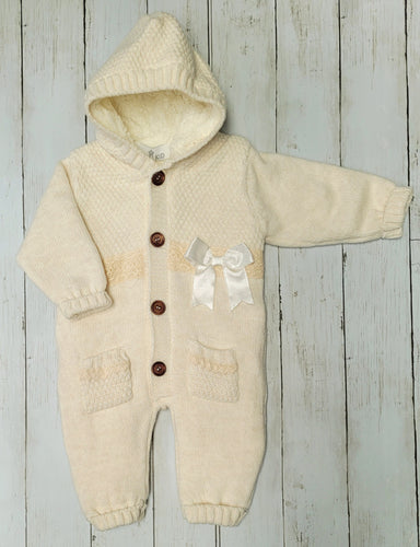Beau Kid Ivory Unisex Knitted Pram Suit