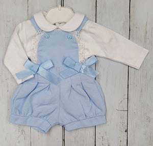 Baby Blue Bib Dungaree Set