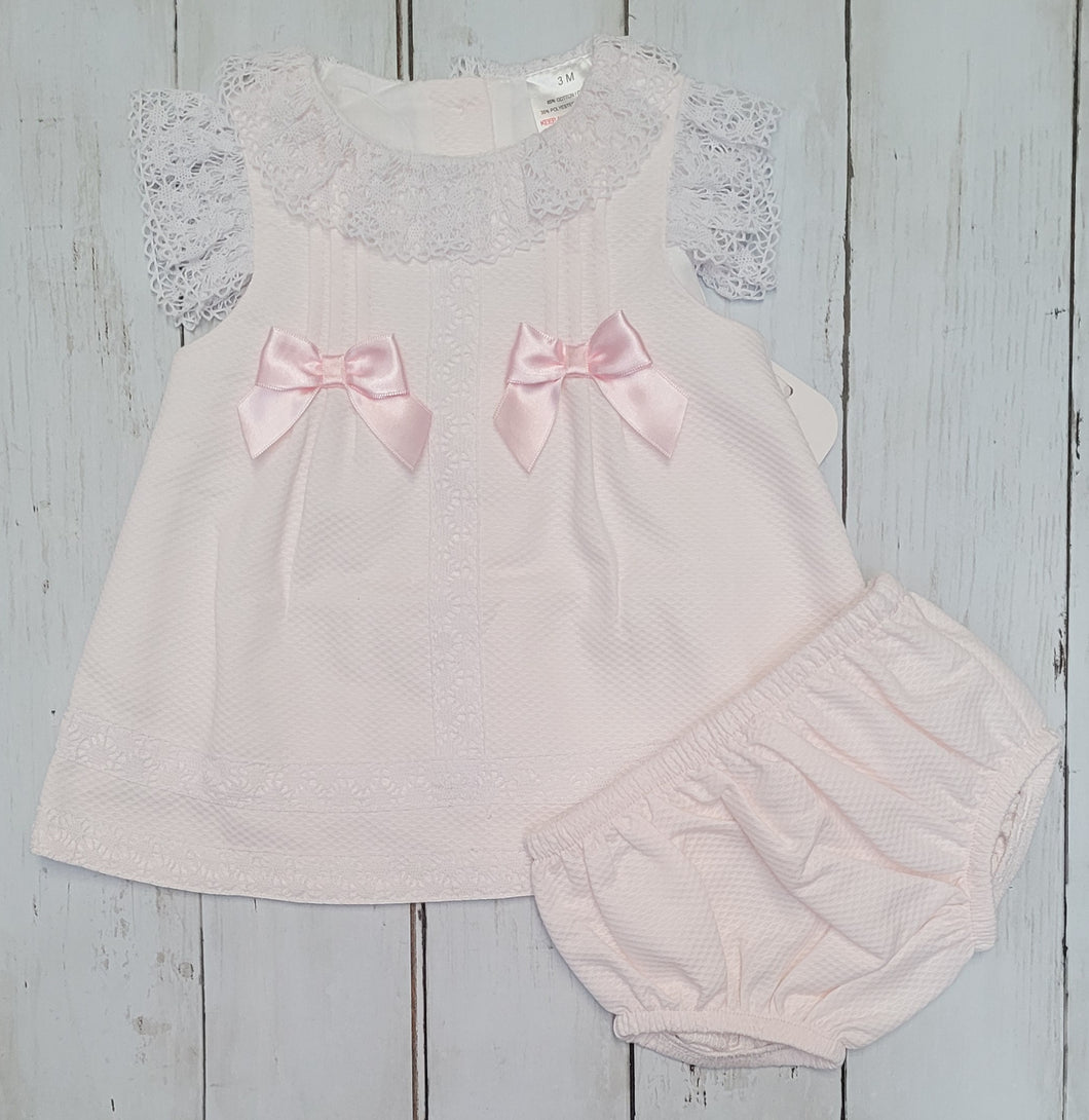 Bows And Lace Dress And Knicks Set