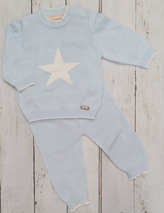 Baby Blue Fine Knit Two Piece Set