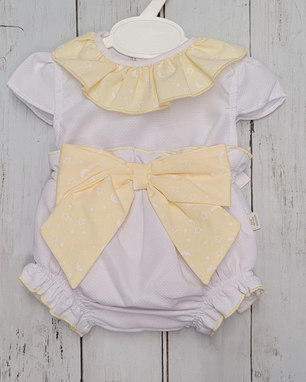 Lemon Bow Bloomers Set