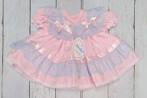 Kinder Pastels Ribbon And Lace Fan Dress