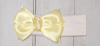 Lemon Ribbon Knot Lycra Stretch Headband