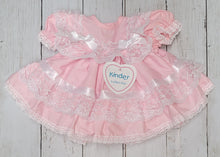 Load image into Gallery viewer, Kinder Pink Ribbon And Lace Fan Dress